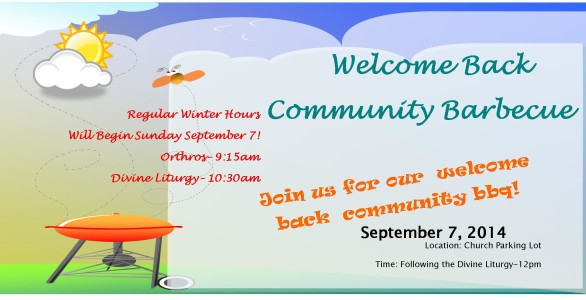 Welcome Back BBQ 2014-